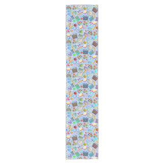 Collage of School Supplies Short Table Runner