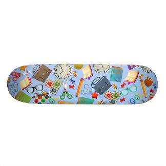 Collage of School Supplies Skateboard Deck