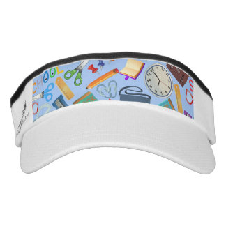 Collage of School Supplies Visor