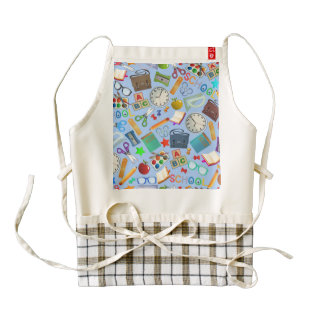 Collage of School Supplies Zazzle HEART Apron
