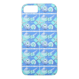 Collage of Seashells  Shades of Blue iPhone 8/7 Case
