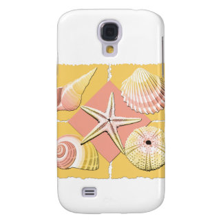 Collage of Seashells Shades of Gold & Pink Galaxy S4 Cover