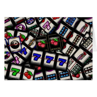 Collage of Slot Machine Reels Card