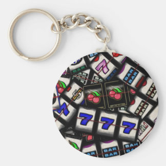 Collage of Slot Machine Reels Keychain