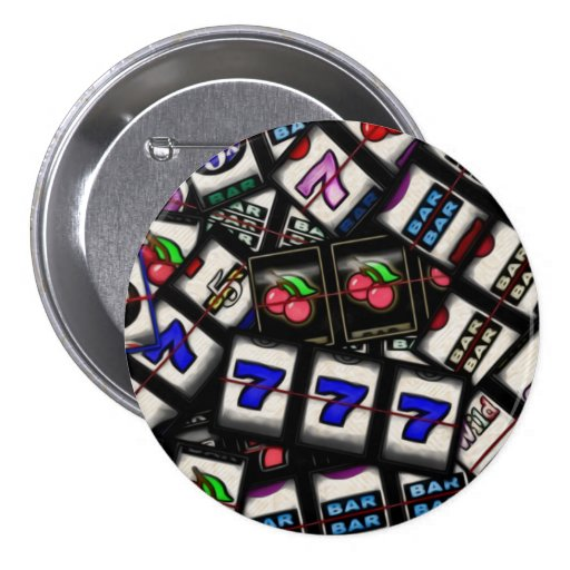 Collage of Slot Machine Reels Pinback Button