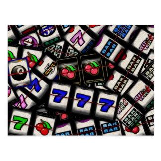 Collage of Slot Machine Reels Postcard