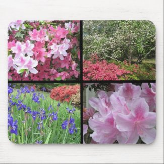 Collage of Spring Flowers Mousepad mousepad