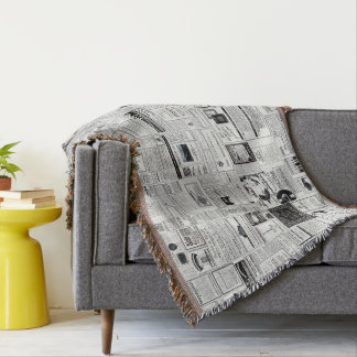 Collage Of Vintage Advertising Throw Blanket