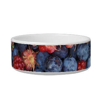 Collage of Wild Berries Blueberries Raspberries Bowl