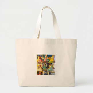 Collage Old Posters Vintage Andalusia Fairs Large Tote Bag