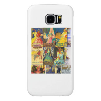 Collage Old Posters Vintage Andalusia Fairs Samsung Galaxy S6 Case