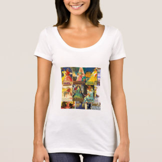 Collage Old Posters Vintage Andalusia Fairs T-Shirt