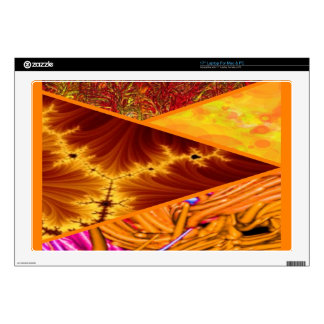 """collage orange decal for 17"""" laptop"""