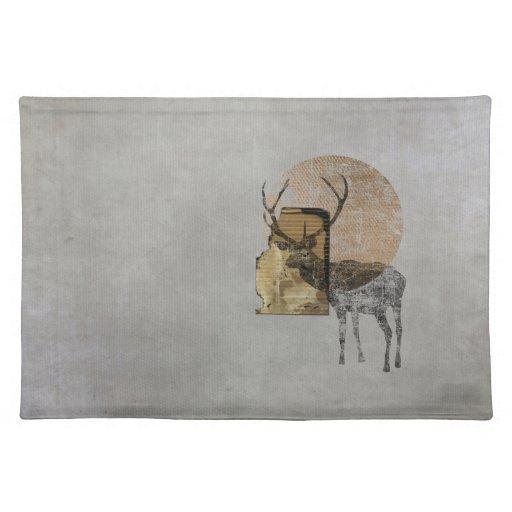 Collage original (ciervos) mantel
