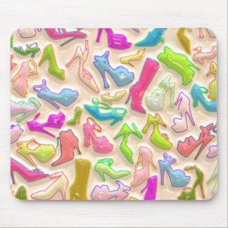 Collage para mujer de los zapatos mousepad