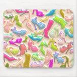 Collage para mujer de los zapatos alfombrilla de ratones