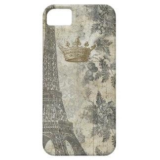 Collage parisiense gris iPhone 5 carcasa