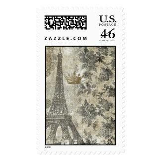Collage parisiense gris franqueo