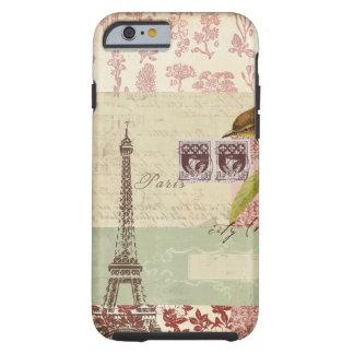 Collage parisiense para el arreglo para requisitos funda de iPhone 6 tough