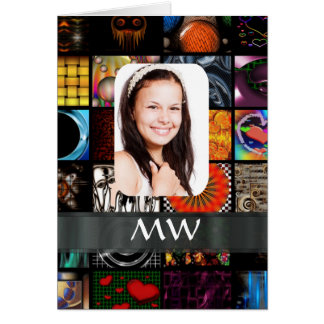 Collage pattern photo template card
