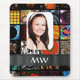 Collage pattern photo template mouse pad