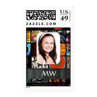 Collage pattern photo template stamp