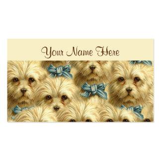 Collage pedigrí del retrato de Terrier del perro d Tarjeta Personal