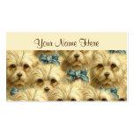 Collage pedigrí del retrato de Terrier del perro Tarjetas De Visita