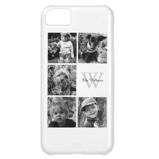 Collage personalizado de la foto de familia funda para iPhone 5C