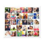 Collage personalizado de la foto de Instagram Impresiones En Lienzo Estiradas