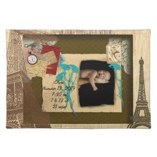 Collage personalizado de la foto del vintage manteles individuales