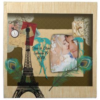 Collage personalizado de la foto del vintage servilleta