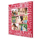 Collage personalizado de la foto para la mamá impresión en lona estirada