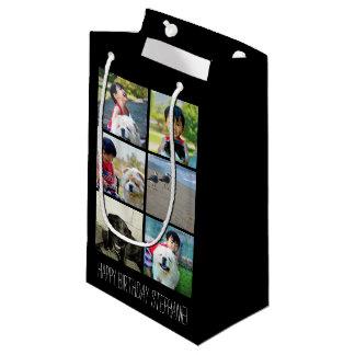 Collage personalizado de la imagen del mosaico de bolsa de regalo pequeña