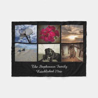 Collage personalizado de la imagen del mosaico del manta de forro polar
