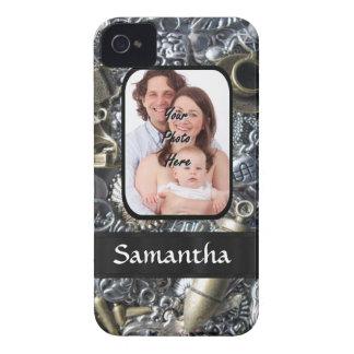 Collage personalizado del encanto Case-Mate iPhone 4 coberturas