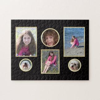 Collage personalizado seis rompecabezas de la foto