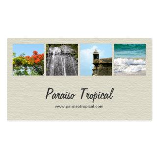 Collage poner crema de la foto de Puerto Rico Tarjetas De Visita