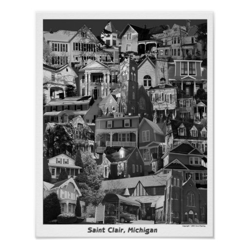 Collage Poster, Saint Clair Michigan Poster
