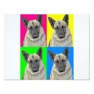 """Collage primario brillante del pastor alemán invitación 4.25"""" x 5.5"""""""