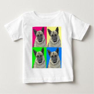 Collage primario brillante del pastor alemán tshirts