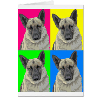 Collage primario brillante del pastor alemán tarjeta de felicitación
