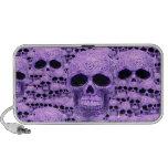 Collage púrpura céltico del cráneo altavoz