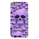 Collage púrpura céltico del cráneo funda barely there iPhone 6