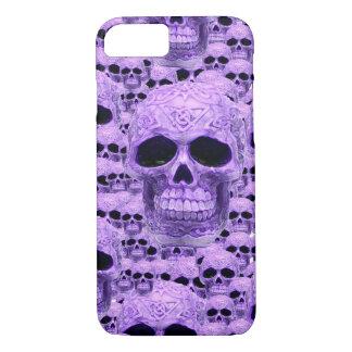 Collage púrpura céltico del cráneo funda iPhone 7