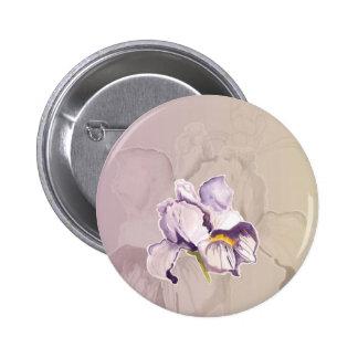 Collage púrpura pintado del iris pin