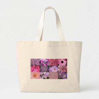 Collage púrpura/rosado de la foto bolsas de mano