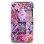 Collage púrpura/rosado de la foto iPod Case-Mate carcasa