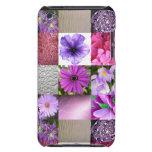 Collage púrpura/rosado de la foto iPod Case-Mate cárcasa