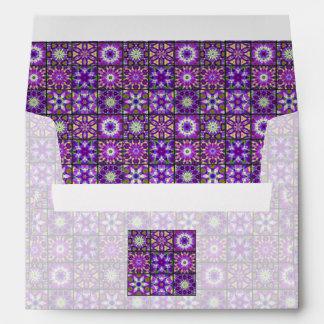 Collage púrpura y verde del fractal sobre